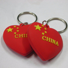 fine quality embossed star red loving heart shape rubber 3d soft pvc keychain
