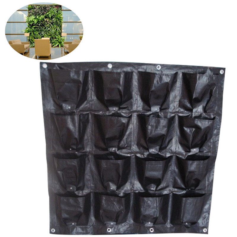 hanging wall pot with 16 pages specical planting bag plant pots for vegetable balcony. Black Bedroom Furniture Sets. Home Design Ideas