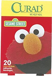 Curad Sesame Street Bandages 20 count 6 pcs sku# 1895705MA
