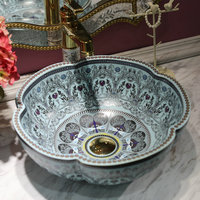 Home decoration porcelain sanitary wares bathroom vanity vessel sink