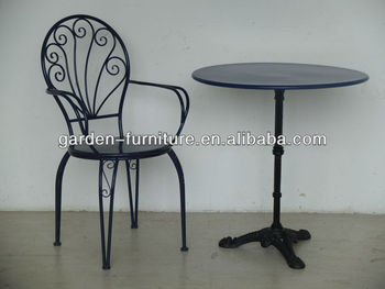 Cast Iron Table Chair Set Clic Metal Sets Black