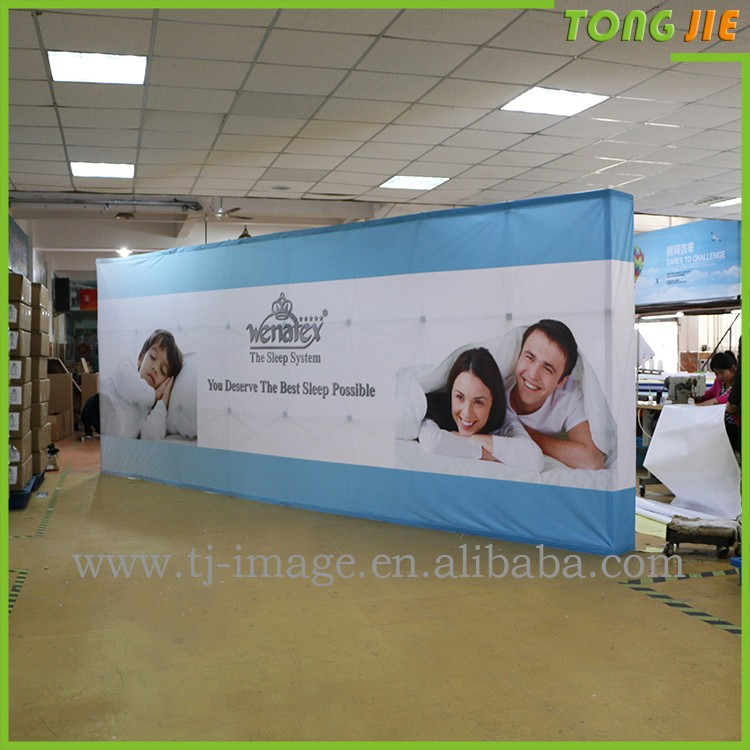 12ft Straight Pop UP Fabric,Tension Back Wall Display