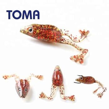 New Arrival 60mm 5g Soft Frog Fishing Lures Floating Artificial Bait Bionic Pasca