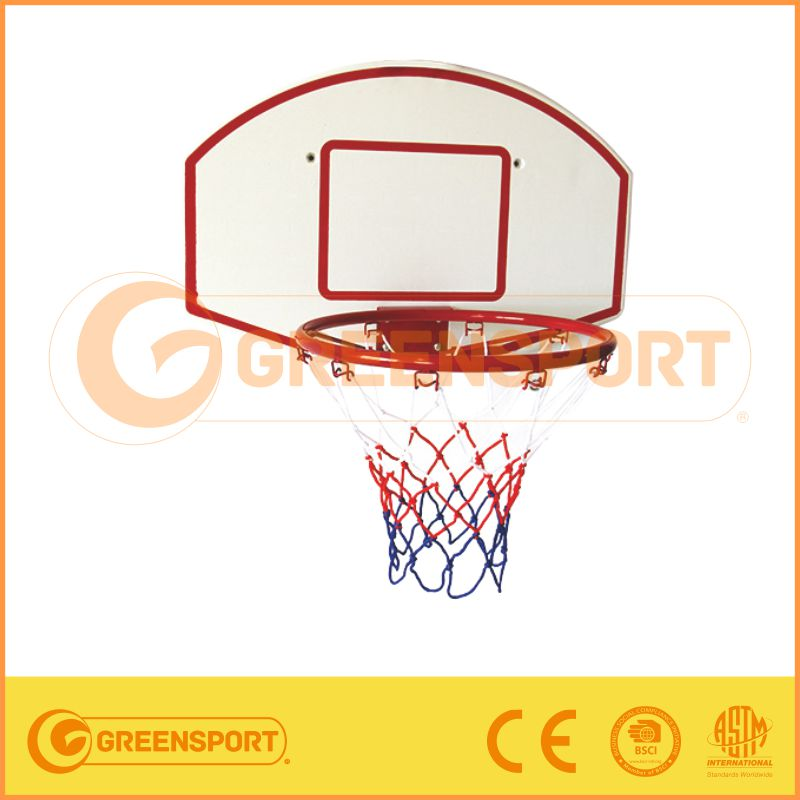 Baksetball Ring/metal basketball ring with plastic backboard with sticker printing logo