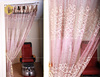 stable window cotton curtain hair salon