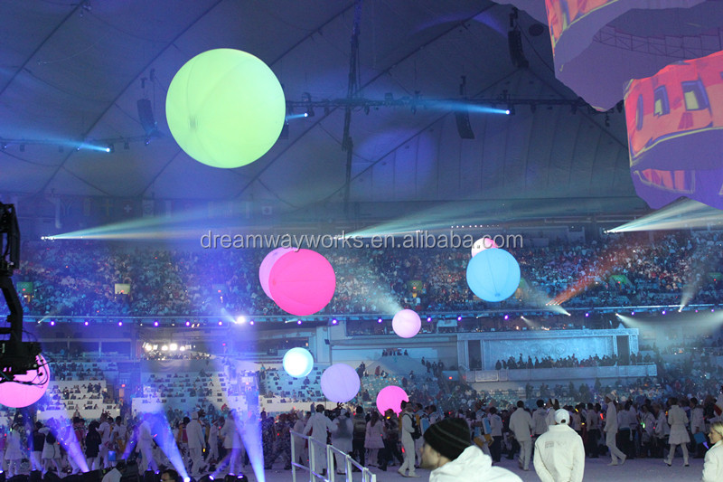 2019 color changing inflatable led light balloon for concert & party decoration