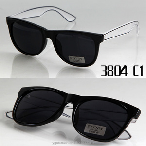 STORY FDA 3804 CE Transparent temple Custom Logo fancy Sunglasses dropship black sunglasses