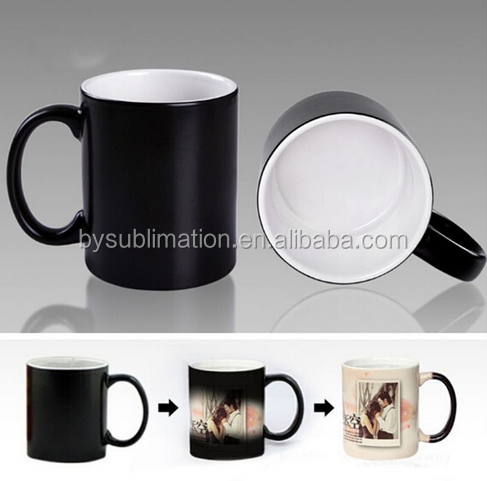 white blank ceramic mug guangzhou factory magic color change mug