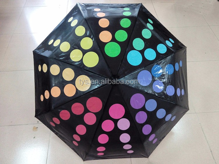 BSCI Audit Factory Customized Design Print Lovely Magic Color Changing Folding Umbrella