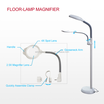newst magnifier for floor lamp buy portable magnifying. Black Bedroom Furniture Sets. Home Design Ideas