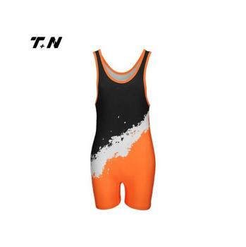 Fashion design polyester cool womens wrestling singlet