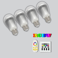 2.4G RF Wireless Touch Remote Control E27 E26 CE ROHs RGB gleopto LED Bulb Light Lamp