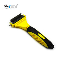 Professional Double Sided Pet Dematting Shedding Comb Dog Grooming Tool Deshedding Hair Remover Brush