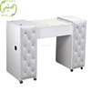 High Quality Double Custom Modern White Wholesale Nails Salon Bar Furniture Nail Table Manicure Table
