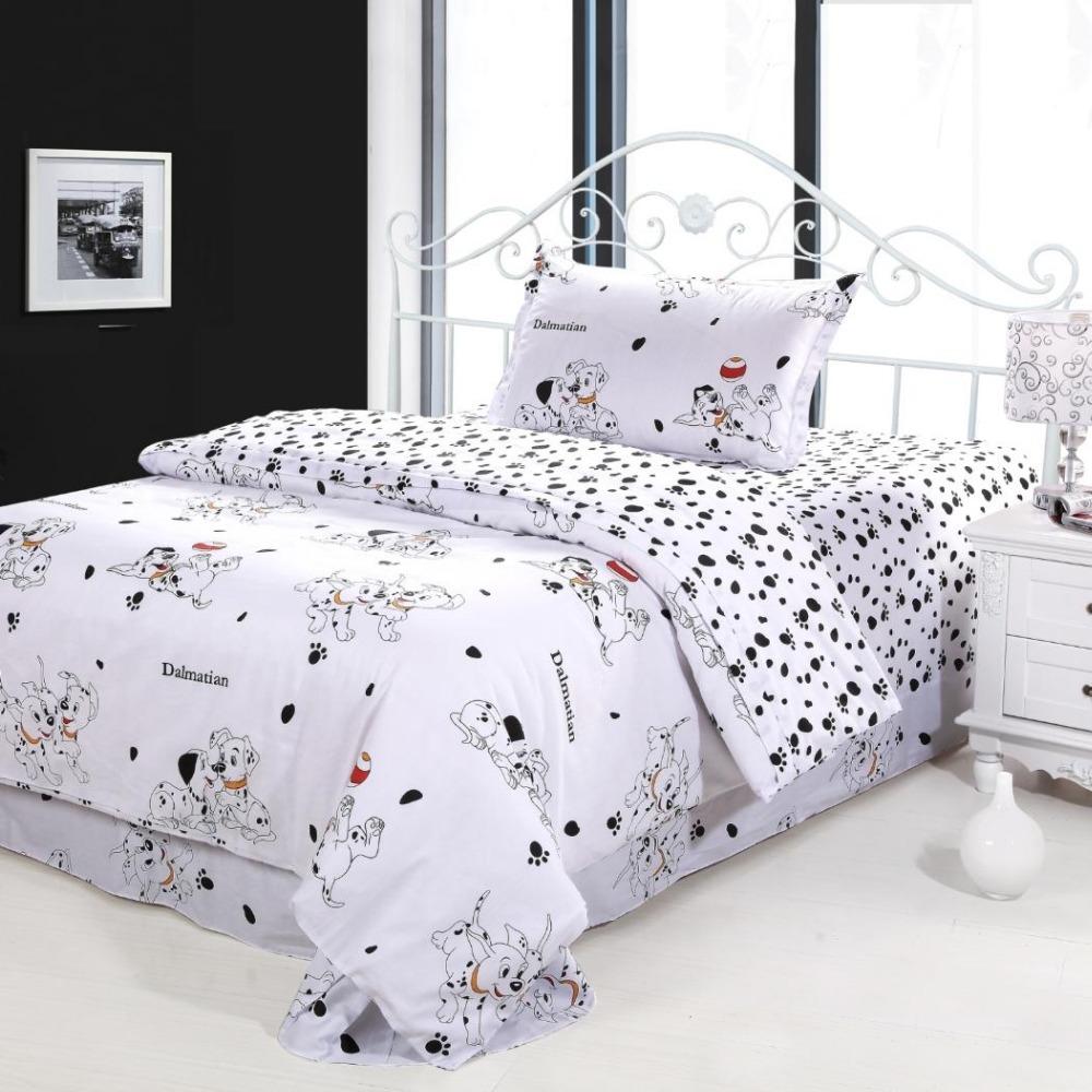 Dog Print Kids Bedding 100 Cotton Childrens Duvet Cover