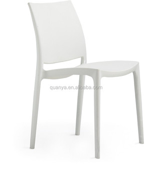 Whole Colored Solid Plastic Restaurant Chair Stacking White