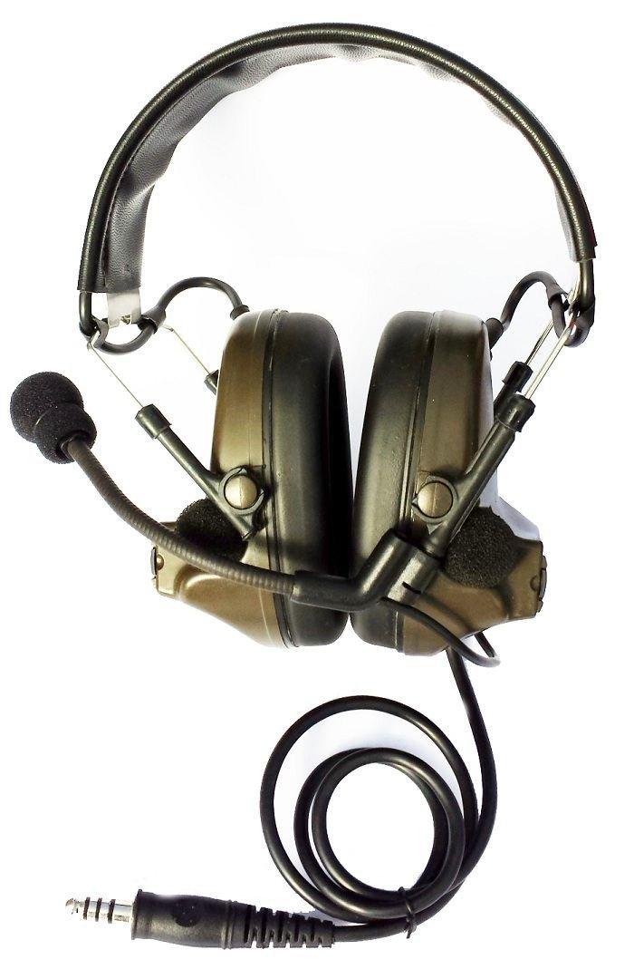50e97a34933 AIRSOFT TOMTAC COMTAC II 2 HEADSET MIC BOOM RADIO PELTOR DESIGN OD GREEN