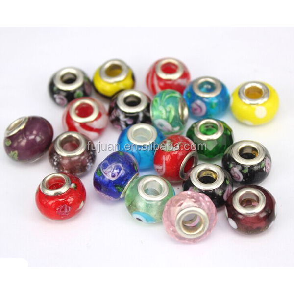 Wholesale 4MM Glass Seed Bead Silver Plated Lampwork Glass Beads