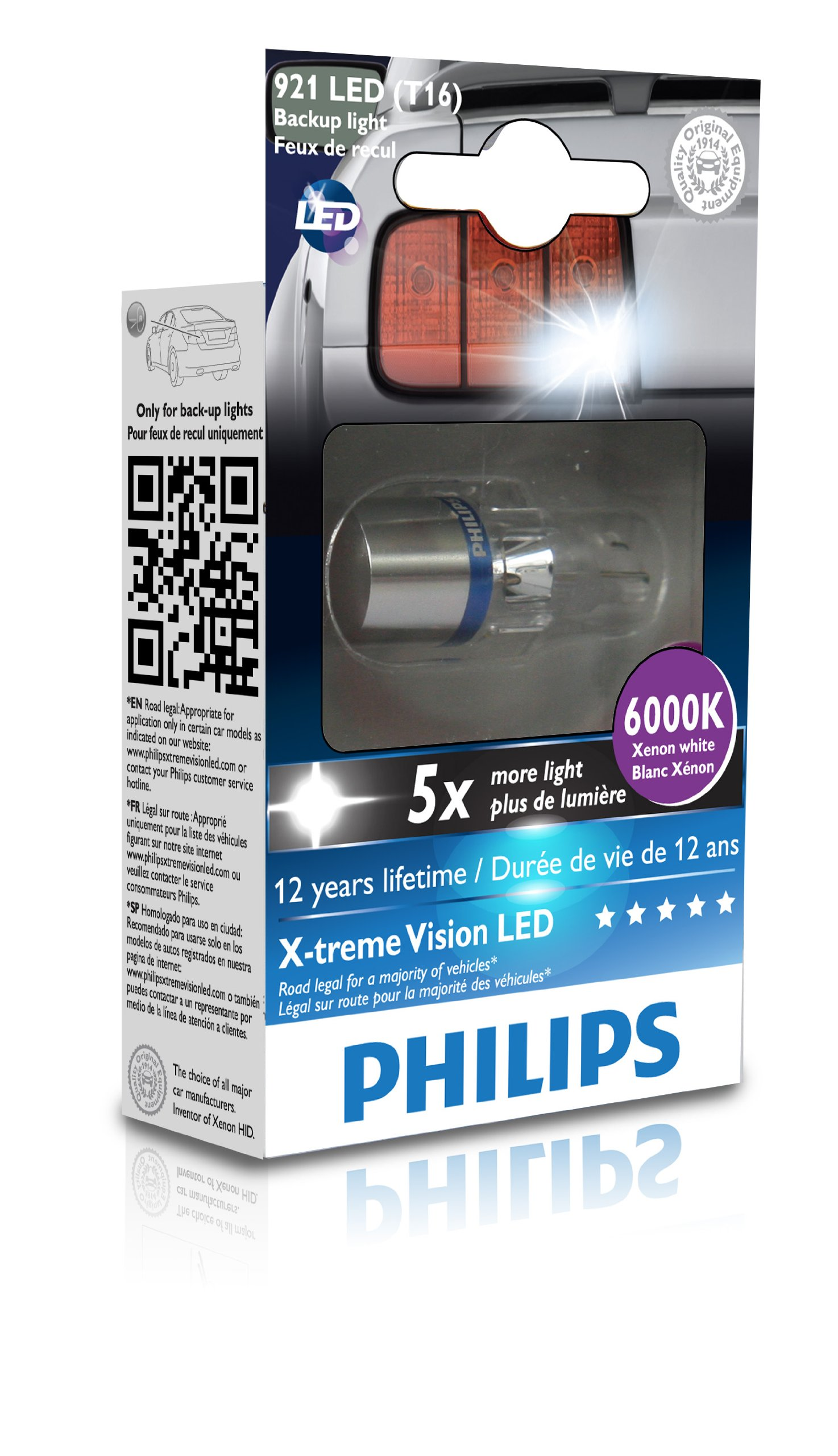 Philips 921 T16 retrofit X-tremeVision LED Exterior light (Pack of 1)