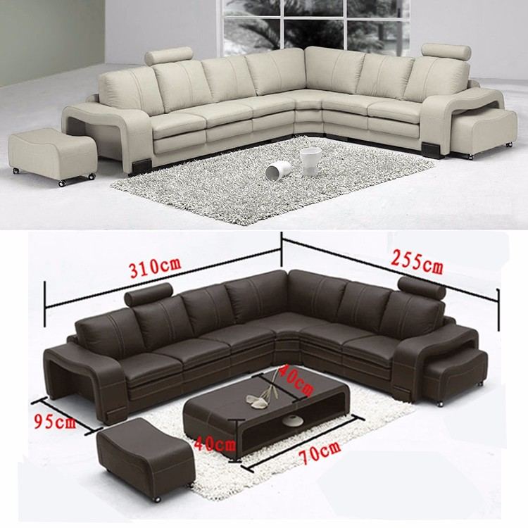 Cheap U Shaped Sofa Low Cost Modern Corner Leather Sofa: Low Price Modern Design Customized Furniture Living Room