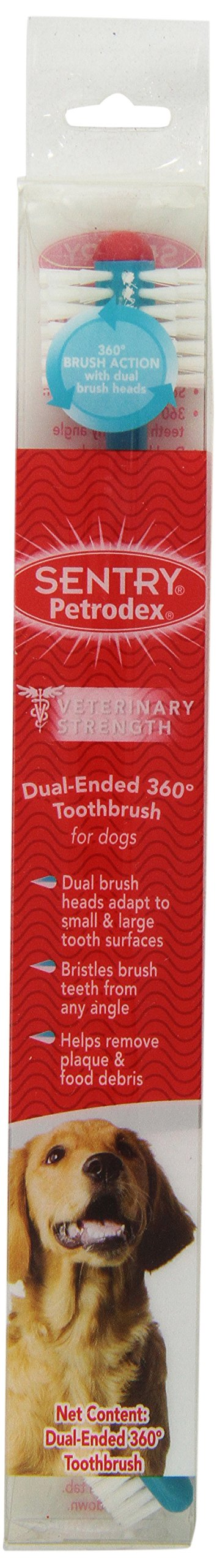 Sentry Petrodex VS Dog Toothbrush 360 Dual Ended