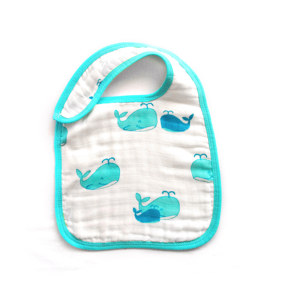 LAT Snap Bibs 100% cotton muslin baby bibs baby burp cloth