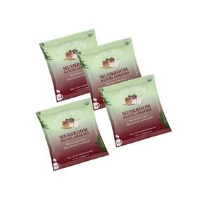 Lifeworth organic chaga mushroom assam milk matcha tea