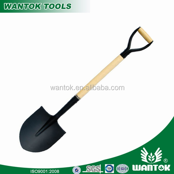 Y type grip wooden handle round point shovel gerden tool farming tool