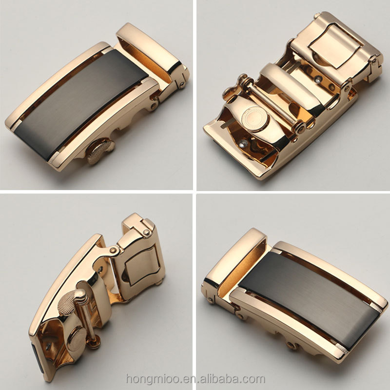 High Quality Men Belt Automatic Gold Buckle