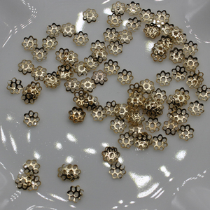 Pretty 6mm Gold Tone Flower Bead Caps for Jewelry Making (About 10000pcs)