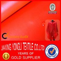 Polyester PU coated waterproof raincoat fabric