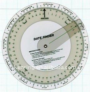 Date Forecaster Wheel Chart SC13
