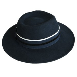 f1e4bc89d3e Wool Navy Blue Fedora Hat