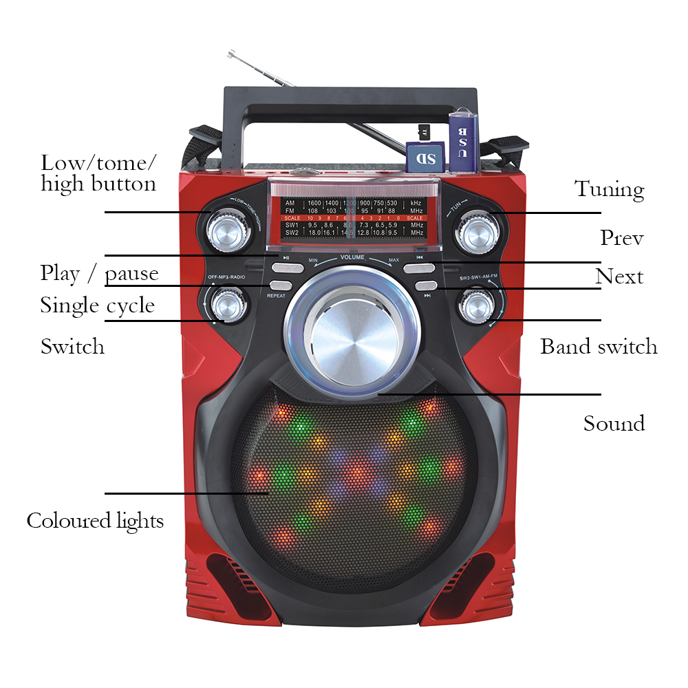 eacabb50ac3 Knstar Solar Rechargeable Radio With Disco Light Mp3 Player - Buy ...