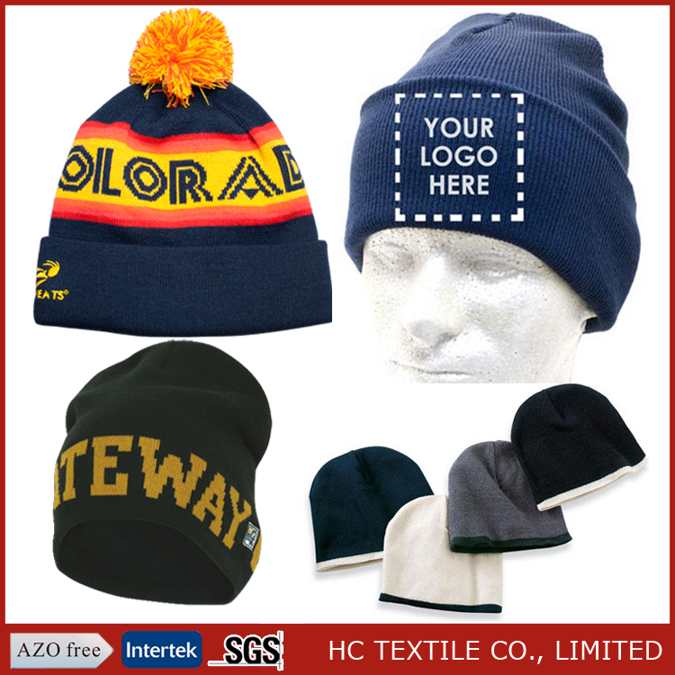 100% acrylic winter hats custom beanie hat