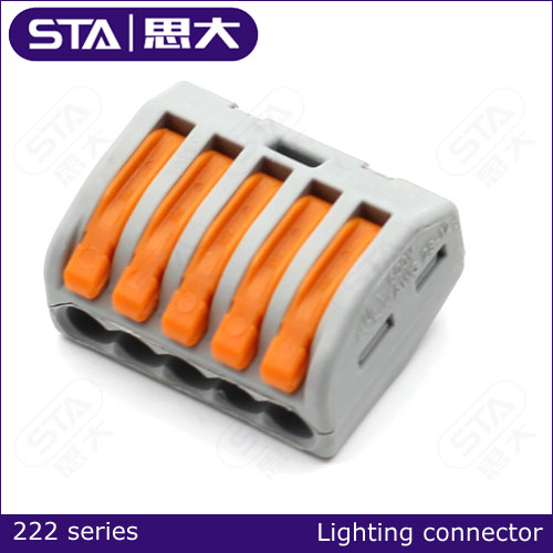 222 quick connect connector, push in wire connector,led strip connector
