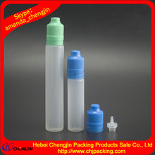 2016 new style 10ml 15ml 30ml pen e-cig bottle with child safety cap and tamper ring