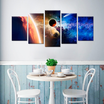 Modern Scenery Art 5 Panel Multiple Canvas Art Print Painting , Buy Modern  Scenery Art Painting,Multiple Canvas Print,5 Panel Canvas Art Product on