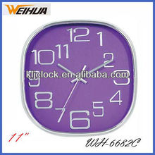 Square frame plastic wall clock