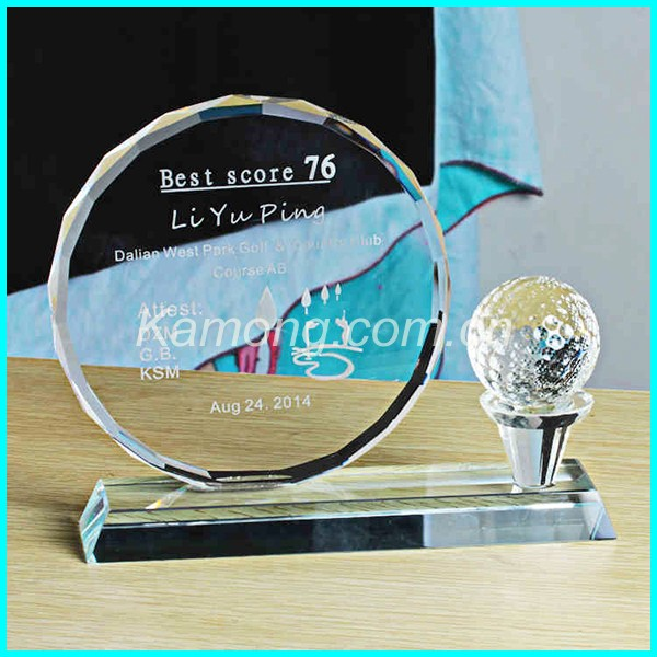 2016 new products crystal trophy design Yiwu