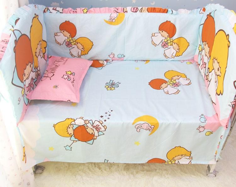 Продвижение! 6 шт. нью-кроватки комплект детская детское постельное белье ( бамперы + лист + )