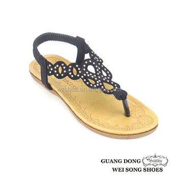 3af0aaf5bc0412 tpr outsole rhinestone ornament hollow out summer outdoor europe ladies  fashion style flat sandals shoes women
