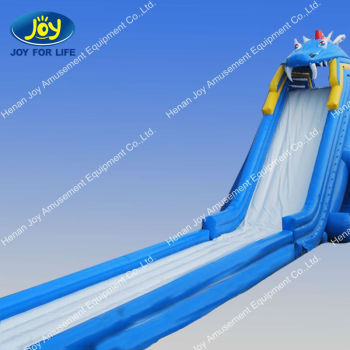 inflatable water sliding hippo water slide