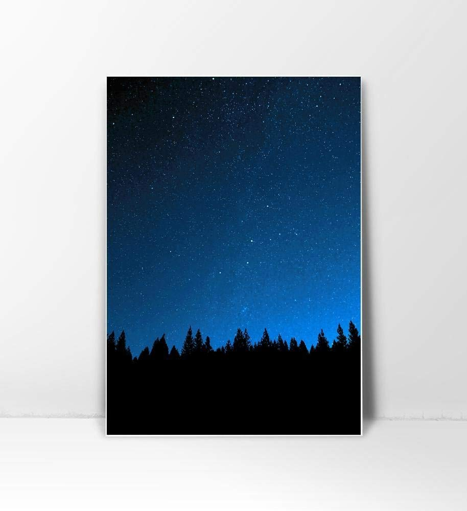 Night Sky, Sky Print, Starry Sky, Galaxy Print, Night Photography, Dark Blue Print, Navy Wall Art, Galaxy Poster, Sky Photography, Navy Print, Navy Art Print, Night Wall Art, Night Poster, 8x10