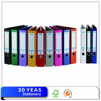 Factory supply colorful pvc lever arch file/A4 lever arch binder