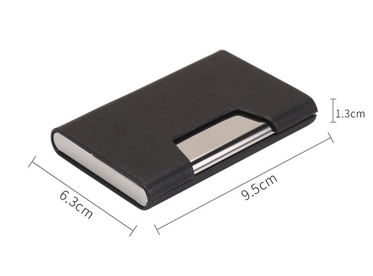 New Design Business Leather Card Case Custom Logo