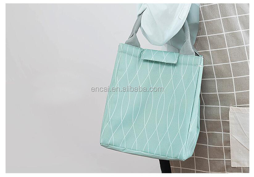Encai Insulated Light-colored Lunch Cooler Bag Summer Picnic Cooler Bag