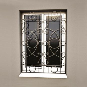 Nouveau Style En Fer Forgé Conception De Grilles De Fenêtre Pour