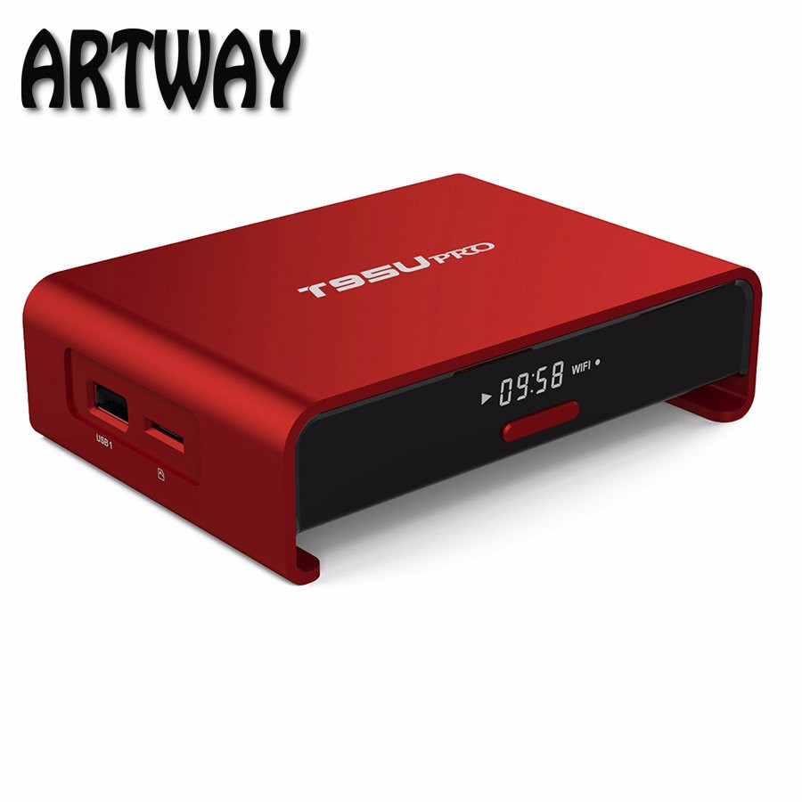 Artway T95U pro Smart <strong>Android</strong> 6.0 <strong>TV</strong> <strong>Box</strong> S912 Octa Core 2GB <strong>16GB</strong> Kodi 17.0 2.4G/5GHz