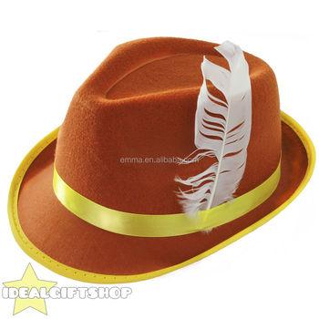 84d66ae5f505b Festa da cerveja guinness alta qualidade chapéu tirolês marrom chapéu  oktoberfest HT17315